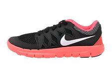 NIKE Free 5.0 PS Running Shoes NIB Girls Pre-School Size 10.5 Black Pink Punch