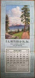 Boston, MA 1919 Advertising Calendar/21x47 Poster-Watches/Jewelry/Jeweler/Silver