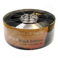 100 x Traxdata pacchetto Black Edition DVD-R Dischi Vuoti 8x 4.7gb Ritek 120min