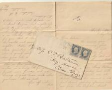 US 1884 Cover with Pair of Scott # 206 ? With Letter Inside, Waverly MD