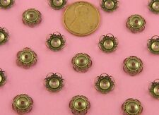 8MM ANT BRASS TWISTED SCROLL EDGE BEAD CAP - 6 PC(s)