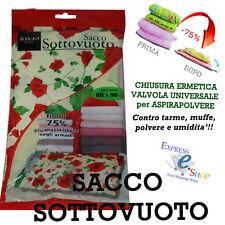 SACCO SALVASPAZIO PER IL SOTTOVUOTO 98x68 SPACE BAG SACCHETTO BUSTA ARMADIO CASA