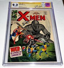 X-Men #34 CGC SS Signature Autograph STAN LEE Mole Man Tyrannus Robot Cover Book