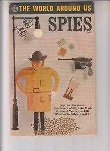 World Around Us 35 F+(6.5) Spies! Classics Illustrated! Jack Kirby artworkt