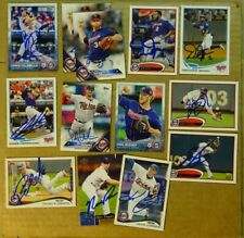 LOT OF 13 AUTOGRAPHED MINNESOTA TWINS Signed MLB Baseball Cards TOPPS Etc