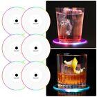 6pcs LED Cup Pad Mat Cocktail Luminous Coaster Drink Beer Club Bar Party Decor
