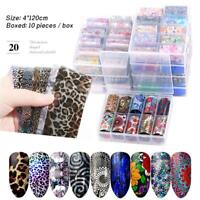 Adhesive Nail Transfer Foil Holographic  Manicure Decor Nail Art Stickers