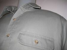 CARHARTT Men's XLT Long Sleeve Button Front Work Shirt Gray Cotton Blend