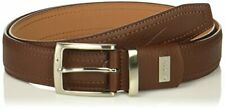 Nike Men's G-Flex Pebble Grain Leather Belt, Brown, 34