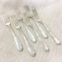Antique Silver Plated Cutlery Table Forks French Empire Rubans Crossed Ribbon