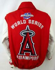 Los Angeles Angels Mens M 2002 World Series Champions Wool Leather Jacket LAA 9