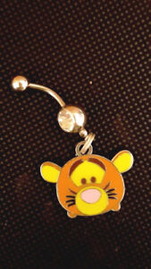 Tigger Poohs friend Belly Ring Navel Ring 14G Surgical Steel Dangle