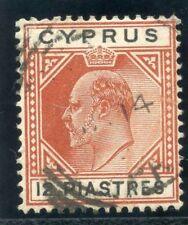 Cyprus 1903 KEVII 12pi chestnut & black very fine used. SG 57. Sc 45