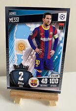 Match Attax101 2020/21 2021 Lionel Messi RARE NEW Base Card Barcelona #2
