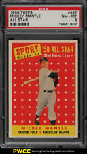 1958 Topps Mickey Mantle ALL-STAR #487 PSA 8 NM-MT (PWCC)