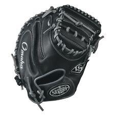 "Louisville Slugger Omaha 33.5"" Baseball Catcher's Mitt, Black/Gray"