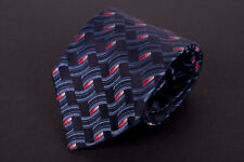 *.* Ermenegildo Zegna Tie Dark Blue 100% Silk Made in Italy *C0222a2