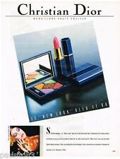 PUBLICITE ADVERTISING 095  1987  CHRISTION DIOR  maquillage NEW LOOK TYEN