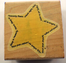 Christmas Star Twinkle Twinkle Little Star Stampabilities  Wooden Rubber Stamp