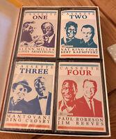 Vintage Set 4 Cassettes, Glen Miller,L.Armstrong, Nat K Cole, Jim Reeves + More