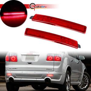 For GMC Acadia Cadillac SRX Red LED Rear Reflector Tail Brake Turn Signal Lights