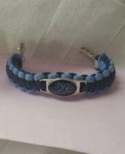 "Tampa BAY RAYS MLB  Survival bracelet 7""with zinc alloy shackle adjustable logo"