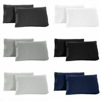 Set of 2 Pillow Cases Super Soft Hypoallergenic 1800 Premier Brushed Microfiber
