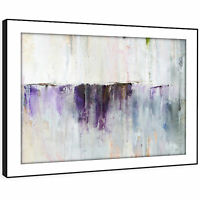 AB1430 Grey Purple Cool Modern Abstract Framed Wall Art Large Picture Prints