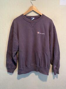 VINTAGE 90's Champion Reverse Weave Sweater Fits MEDIUM Purple Lavender USA Made