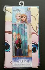 """Disney Frozen Sisters Forever Elsa & Anna 72"""" X 72"""" Fabric Shower Curtain NEW"""