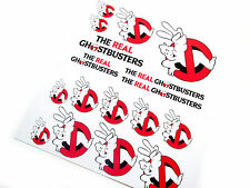 THE REAL GHOSTBUSTERS 'DIE CUT' STICKERS  - GHOSTBUSTERS 'NO GHOSTS 2' LOGO'S
