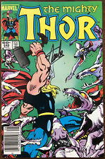 Thor 346 / RARE Signed By Stan Lee AND Signed By Jack Kirby / Very Fine +