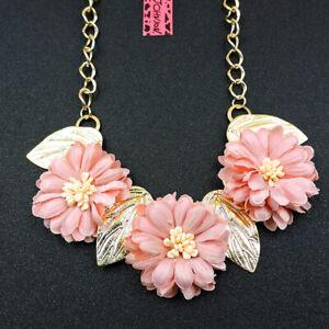 Betsey Johnson Fashion Jewelry Popular Flower Choker Necklace