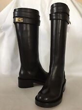 NIB Givenchy Black Leather Tall Boots Size 34 / 4