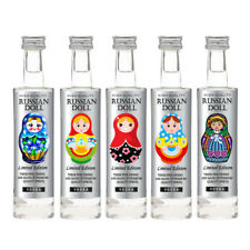 Russian Doll Vodka Platinum Collection 5x5cl Miniature Germany
