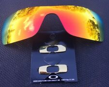 OAKLEY BATWOLF  POLARISED FIRE RED Lense  w/ POLISHED GOLD icons