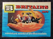 1977 BRITAINS Miniature Models Catalog FN+ 6.5 motorcycles Military Farm 32pgs