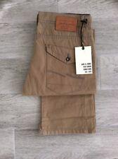 Jeans De Hombre Jack Jones Branco Ajuste Estándar cierre de botones en camello W32 L30