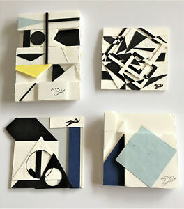 4 x Spate Huntermann (Robert Hunt, 1954-2014), Original Abstract Collages