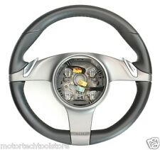 PORSCHE 911 STEERING WHEEL 997 CAYMAN BOXSTER PDK BLACK LEATHER OEM ** SALE **
