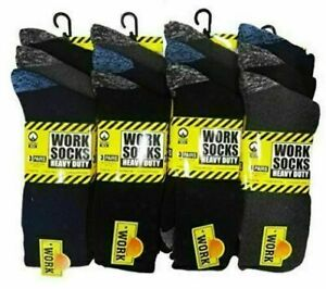 12 Pairs Men Crew Cotton Cushioned Sports Trainer Socks Work 6-11 Lot .A.B.S