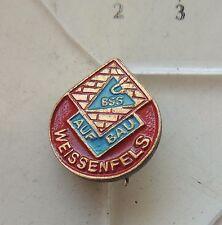 BSG Aufbau Weissenfels DDR  football club old badge pin Anstecknadel brosche