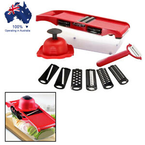 Kitchen Stainless & ABS Plastic Manual Vegetable Slicer Potato Cutter Safety hat