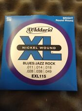 D'Addario Nickel Wound Electric Guitar Strings EXL 115 11/49 From Guitars Wales