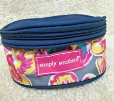 Simply Southern small round zipper jewelry bag with pockets NWOT