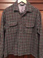"Vintage 1930-40's Woolrich  plaid 100% wool long sleeve shirt In XL ""Moth Proof"""