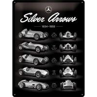 Mercedes Benz Silver Chart  Nostalgie Blechschild 40 cm NEU  shield