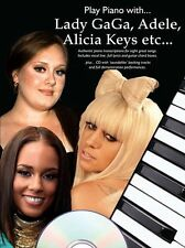 Play Piano With ADELE LADY GAGA ALICIA KEYS Music Book