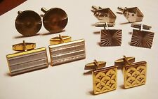 VINTAGE RUSSIAN STAINLESS STEEL CUFFLINKS SET 5 pair