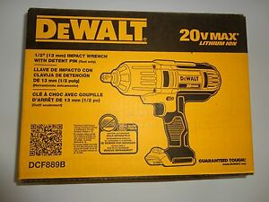 "Dewalt 20 Volt Max Cordless Lithium-Ion 1/2"" High Torque Impact Wrench DCF889B"